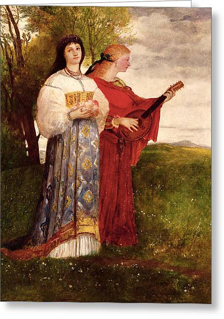 Lute Paintings Greeting Cards - Summer, 1873 Greeting Card by Arnold Bocklin