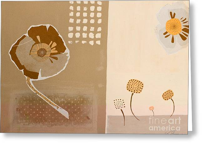 Brown Mixed Media Greeting Cards - Summer 2014 - c09a Greeting Card by Variance Collections