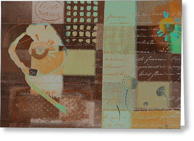 Brown Mixed Media Greeting Cards - Summer 2014 - j088097112-brown01 Greeting Card by Variance Collections