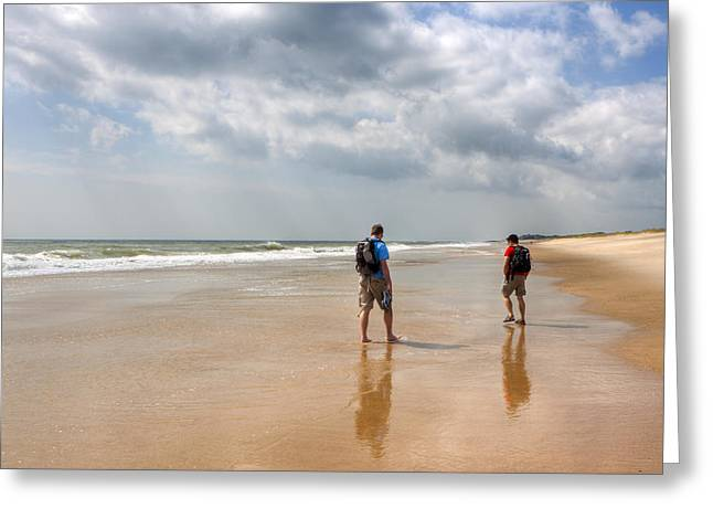 Wander Greeting Cards - Summer A Beach In The Hamptons Greeting Card by Mark Tisdale