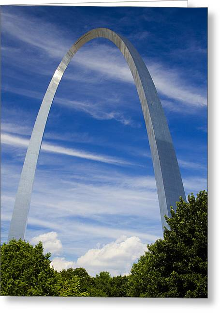 Jefferson National Expansion Memorial Greeting Cards - Summer afternoon at the St Louis Arch Greeting Card by Garry McMichael