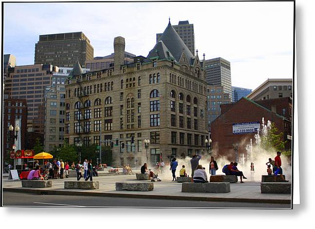 Summer Afternoon In Boston Greeting Card by Dora Sofia Caputo Photographic Art and Design
