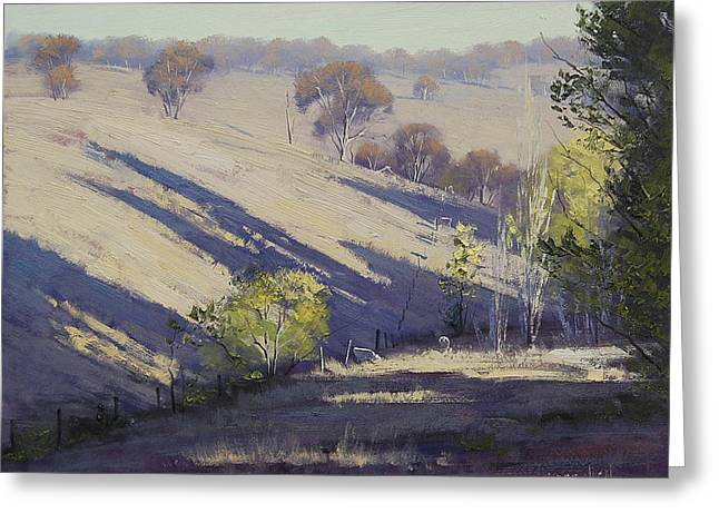 Summer afternoon shadows Greeting Card by Graham Gercken