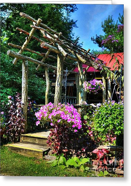 Rural Indiana Photographs Greeting Cards - Summer Arches Greeting Card by Mel Steinhauer