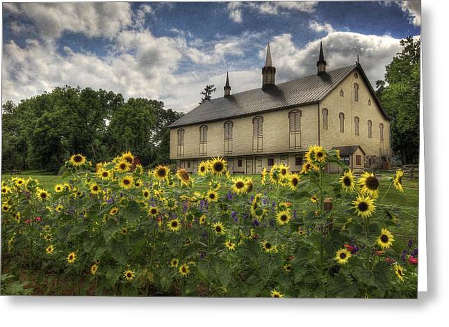 Barn Digital Greeting Cards - Summer at Fort Hunter Greeting Card by Lori Deiter