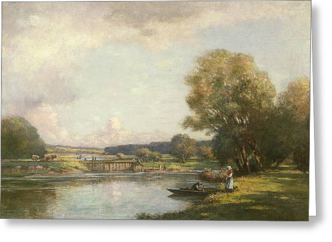 Summer Season Landscapes Greeting Cards - Summer at Hemingford Grey Greeting Card by William Kay Blacklock