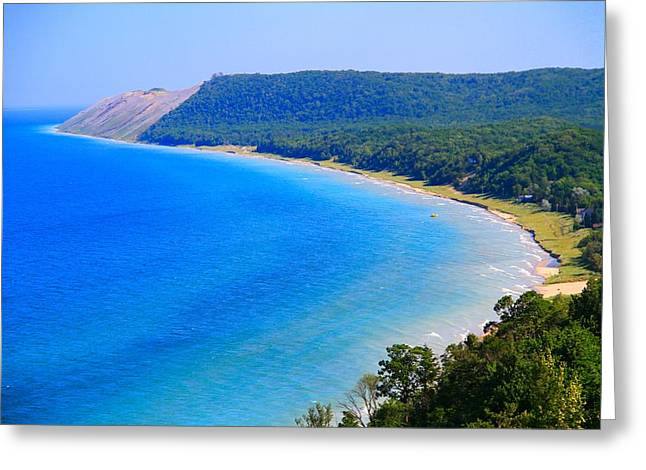 Green Wave Greeting Cards - Summer At Sleeping Bear Dunes Greeting Card by Dan Sproul