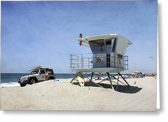 Summer At Tamarack Beach Greeting Card by Ann Patterson