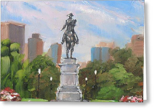 Paul Revere Greeting Cards - Summer at the Gardens Greeting Card by Laura Lee Zanghetti