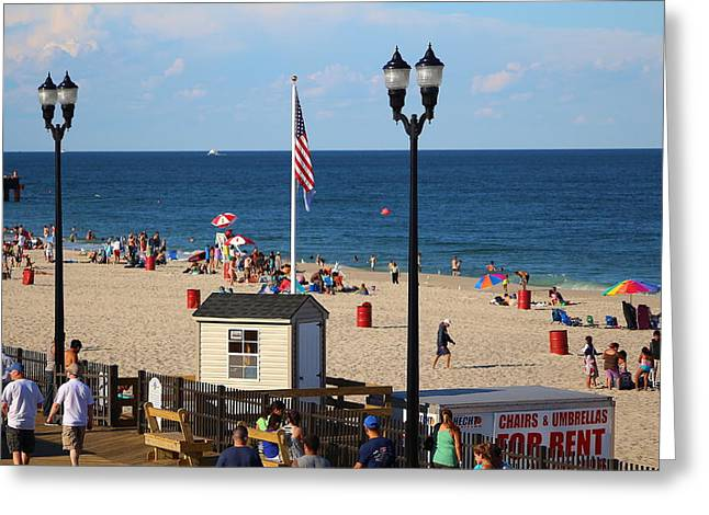 Restore The Shore Greeting Cards - Summer at the Jersey Shore Greeting Card by Richard Cheski