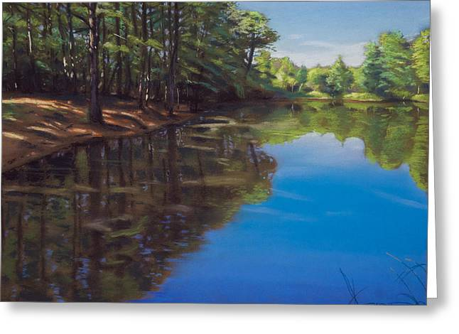 Reflections Pastels Greeting Cards - Summer At The Pond Greeting Card by Christopher Reid