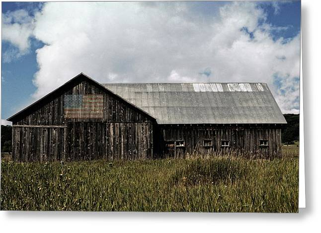 Outbuildings Greeting Cards - Summer Barn in the Country  Greeting Card by Michelle Calkins