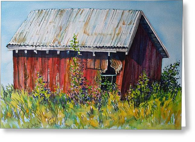 Spokane Greeting Cards - Summer Barn Greeting Card by Lynne Haines
