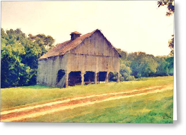 Gravel Road Greeting Cards - Summer Barn Greeting Card by Ryan Burton
