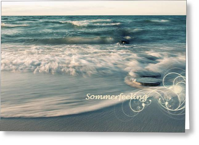 Himmel Pyrography Greeting Cards - Summer Beach Greeting Card by Steffen Gierok