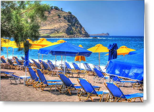 Lesvos Greeting Cards - Summer Blue Greeting Card by Andreas Thust
