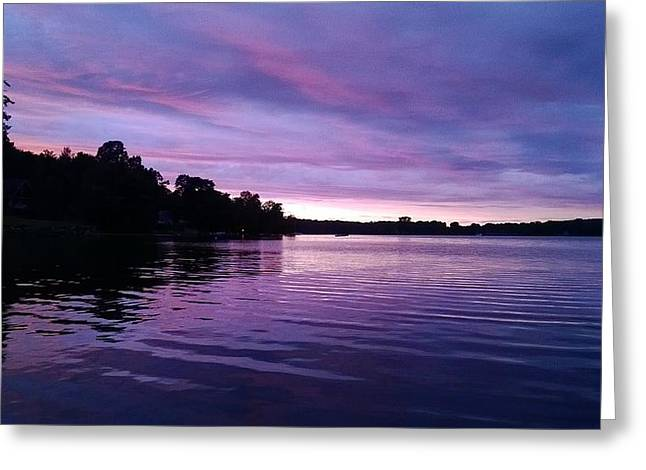 Dusk At The Lake Greeting Cards - Summer Blues Greeting Card by Tim Votapka