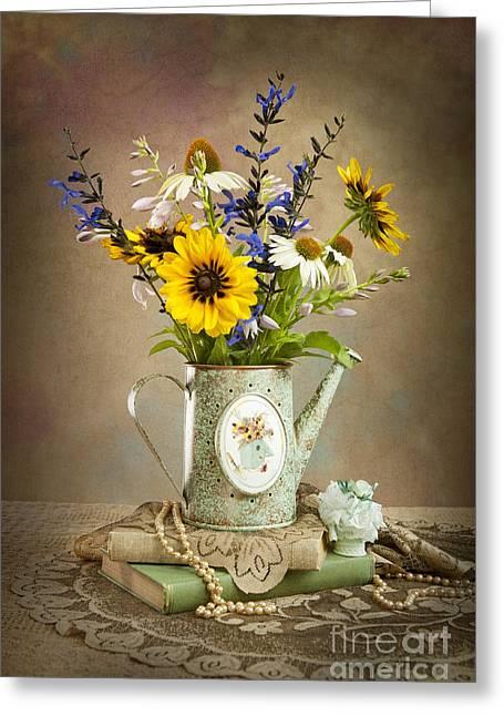 Cheryl Davis Greeting Cards - Summer Bouquet Greeting Card by Cheryl Davis