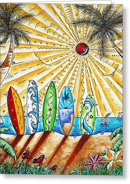 Surf Lifestyle Greeting Cards - Summer Break by MADART Greeting Card by Megan Duncanson