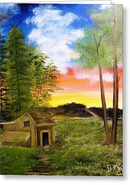 Shed Mixed Media Greeting Cards - Summer Breeze Greeting Card by The GYPSY And DEBBIE