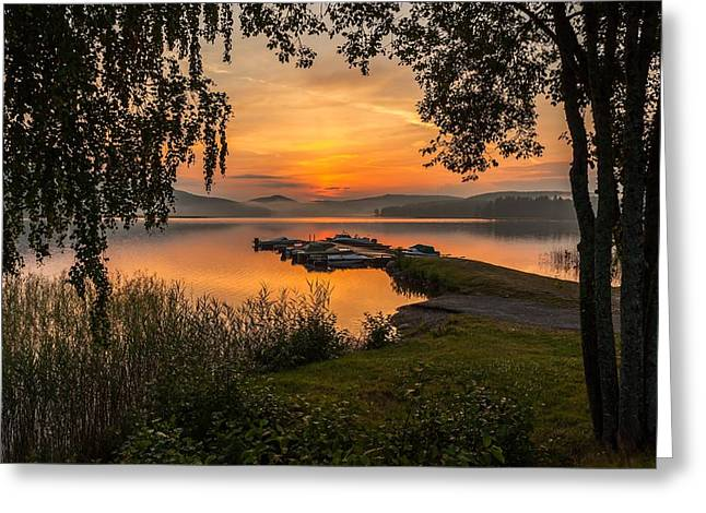 Sunset In Norway Greeting Cards - Summer breeze Greeting Card by Rose-Maries Pictures