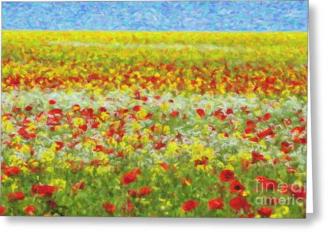 Brassica Greeting Cards - Summer Breeze Greeting Card by Tim Gainey