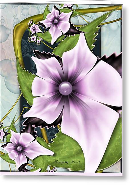 Karlajkitty Digital Art Greeting Cards - Summer Charm Greeting Card by Karla White