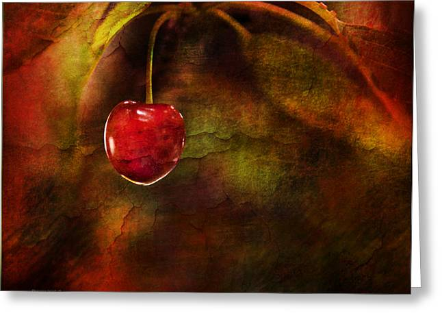 Canadian Photographer Greeting Cards - Summer Cherries 1 Greeting Card by Theresa Tahara
