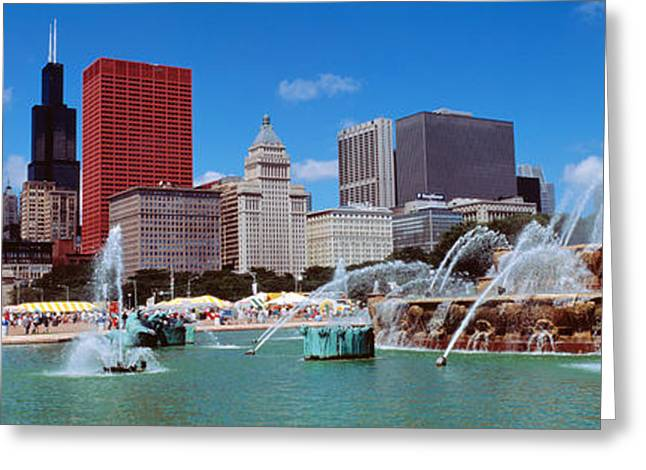 Urban Buildings Greeting Cards - Summer, Chicago, Illinois, Usa Greeting Card by Panoramic Images