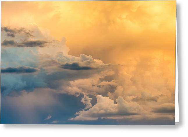 Summer Clouds - Abstract Cloud Photograph Greeting Card by Duane Miller