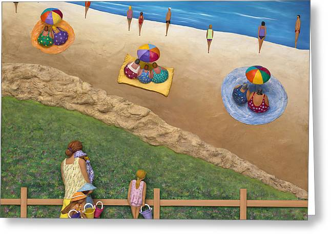 Family Vacation Greeting Cards - Summer Colours Greeting Card by Anne Klar