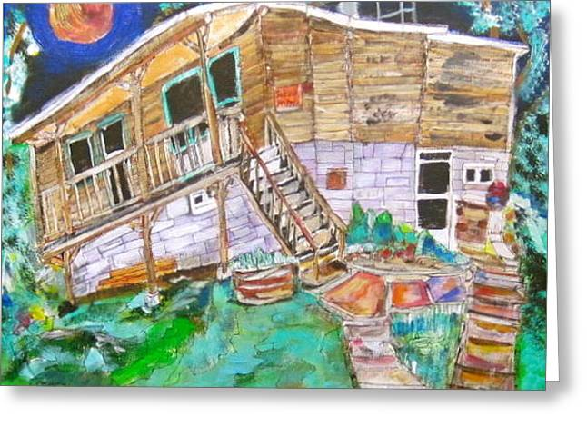 Summer Cottage Greeting Card by Michael Litvack