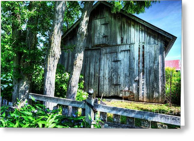 Rural Indiana Greeting Cards - Summer Country Barn Greeting Card by Mel Steinhauer