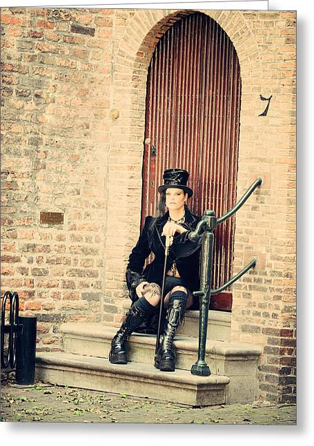 Outfit Greeting Cards - Summer Darkness 30. Gothic Festival in Utrecht Greeting Card by Jenny Rainbow