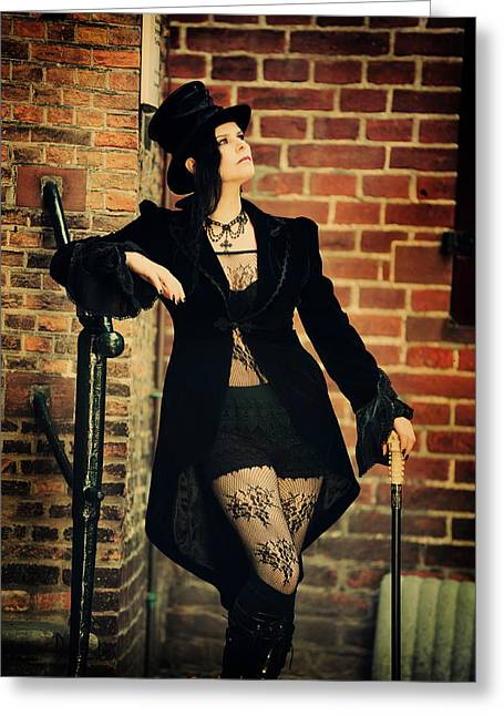 Outfit Greeting Cards - Summer Darkness 4. Gothic Festival in Utrecht Greeting Card by Jenny Rainbow