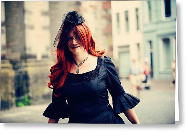 Outfit Greeting Cards - Summer Darkness 40. Gothic Festival in Utrecht Greeting Card by Jenny Rainbow