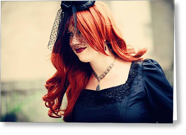 Outfit Greeting Cards - Summer Darkness 41. Gothic Festival in Utrecht Greeting Card by Jenny Rainbow