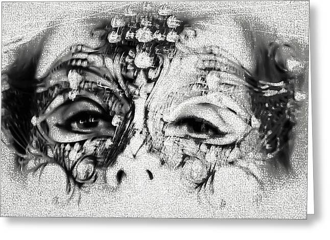 Outfit Greeting Cards - Summer Darkness. Mask. Gothic Festival in Utrecht Greeting Card by Jenny Rainbow