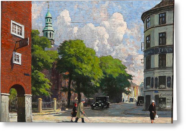 Reform Photographs Greeting Cards - Summer Day at the Reformed Church in Copenhagen Greeting Card by Paul Gustav Fischer