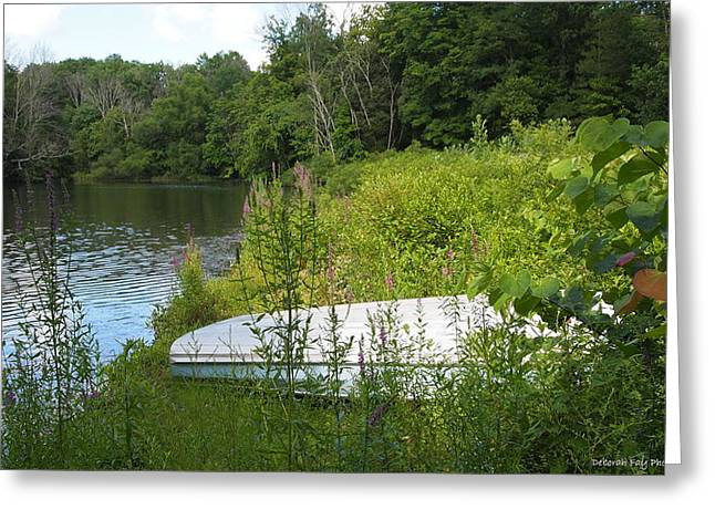 Nature Center Pond Greeting Cards - Summer Day  Greeting Card by Deborah Fay