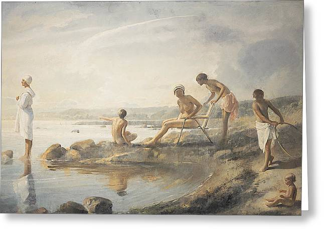 Bask Greeting Cards - Summer day Greeting Card by Odd Nerdrum