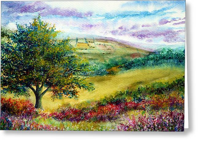 Kinkade Greeting Cards - Summer Days Greeting Card by Ann Marie Bone