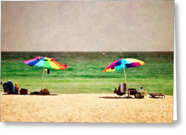 Summer Days at the Beach Greeting Card by Scott Pellegrin