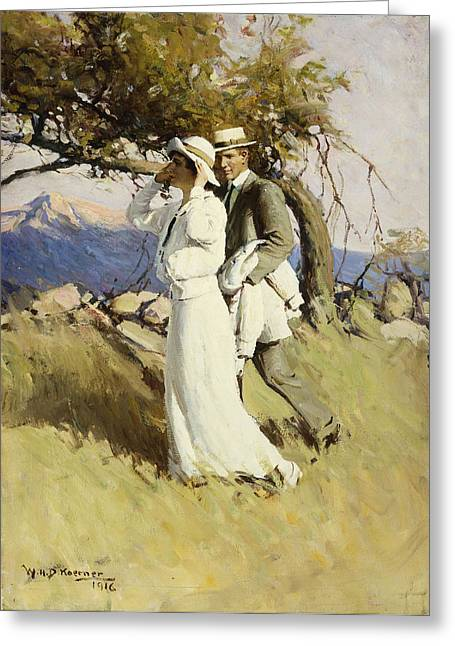 Signature Greeting Cards - Summer Days Greeting Card by William Henry Dethlef Koerner