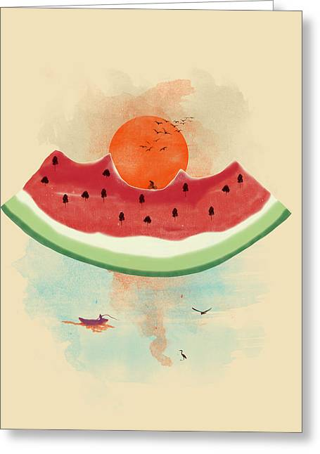 Melon Digital Greeting Cards - Summer delight Greeting Card by Neelanjana  Bandyopadhyay