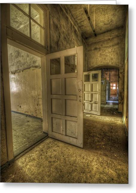 Haunted House Digital Greeting Cards - Summer doors Greeting Card by Nathan Wright