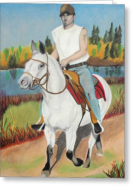 Dust Pastels Greeting Cards - Summer Dream Ride Greeting Card by Jeanne Fischer