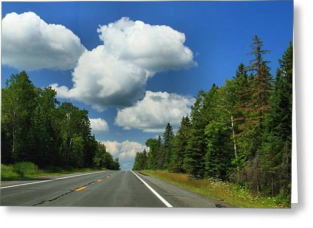 Newberry Greeting Cards - Summer Drive In Northern Michigan Greeting Card by Dan Sproul