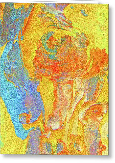 Coloured Bark Greeting Cards - Summer Eucalypt Abstract 3 Greeting Card by Margaret Saheed