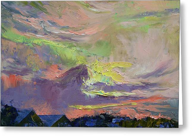 Summer Evening Greeting Card by Michael Creese